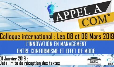 FSJES Fès – Colloque international : L'Innovation en management entre conformisme et effet de mode