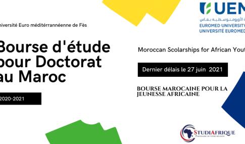 Bourse d'études doctorat l'Université EuroMed de Fès 2020/2021